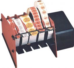 Wall Bench Mounted Multi Or 1 Large Roll Label Dispenser